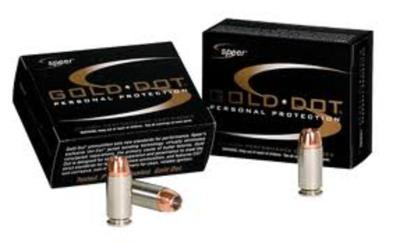 45 AUTO+P 200GR GOLD DOT HP 2