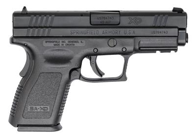 XD 45ACP COMPACT 4IN BLK W/2 M