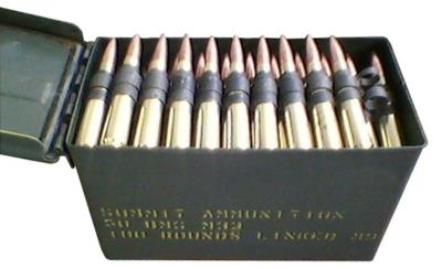 50 BMG 649GR M-33 BALL 100 RDS Hover