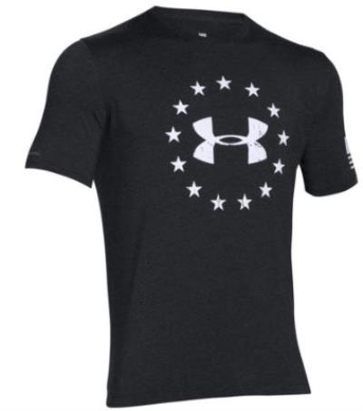 UA Freedom T Blk-Wht Hover