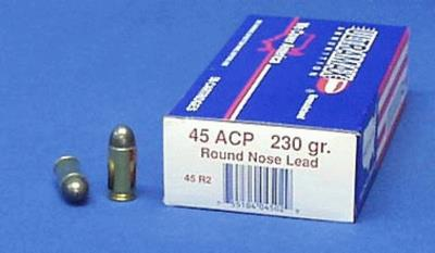 45 ACP 230GR LEAD-RN 50 PACK A Hover