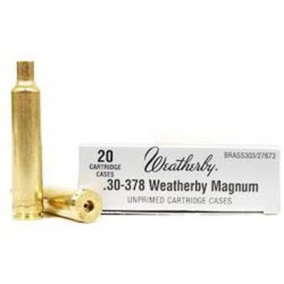 30-378 WBY MAG UNPRIMED BRASS