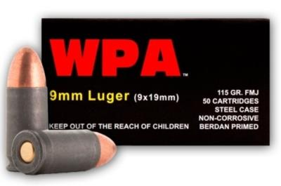 9MM 115GR FMJ 50BOX WPA Hover