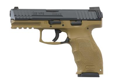"HK VP9 9MM FDE 4.1"" 15+1"