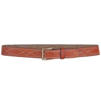 FANCY STITCHED BELT 1 1/2IN 48
