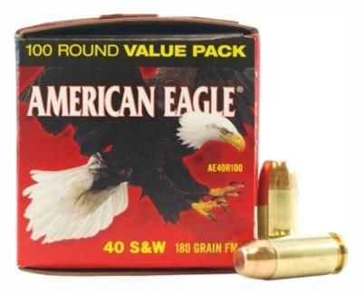 40 SW 180Gr Am Eagle Full Meta