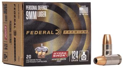 9mm 124Gr Hydra-Shok JHP Perso Hover