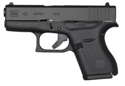 "G43 G3 9mm 3.39"" 6+1 BLK FIXED"