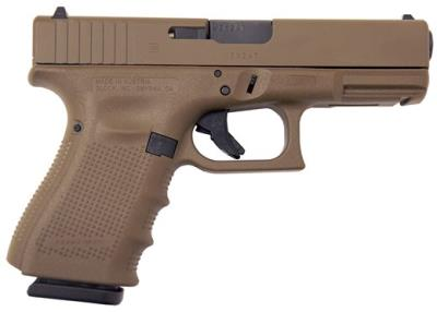 "G19 G4 9mm 15+1 4"" FDE POLY Hover"