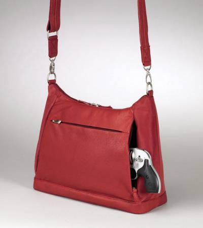 "Large Hobo Sac Red 14"" Hover"