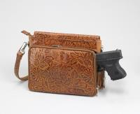 Tooled American Cowhide Tan 10