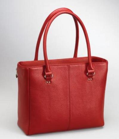 Traditional Open Top Tote Red