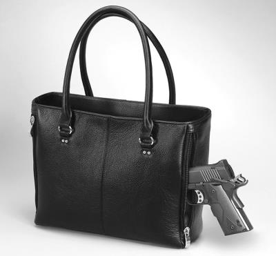 Traditional Open Top Tote Blac