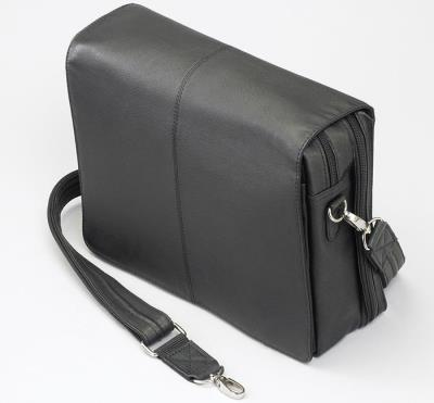 Flap Over Messenger Black 12""