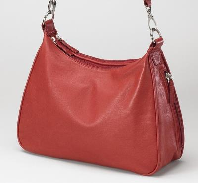 Basic Hobo Handbag Red 13""