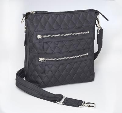 Cross Body Quilted Microfiber
