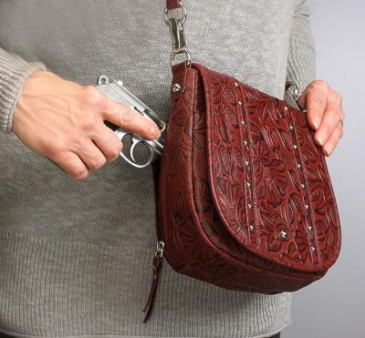Simple Bling Tooled Leather Ch