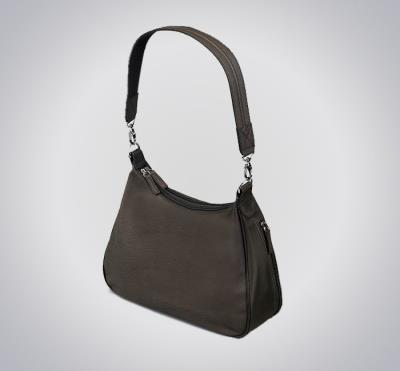 Basic Hobo Handbag Brown 13""