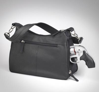 Basic Hobo Handbag Black 13""