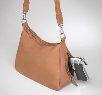 Basic Hobo Handbag Tan 13""