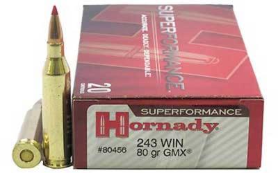 HORNADY 243 Win 58Gr V-Max Superforman