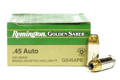 45 ACP Golden Saber Brass JHP