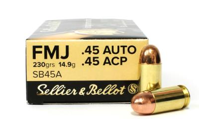 45ACP 230GR FMJ BRASS CASE 100 Hover