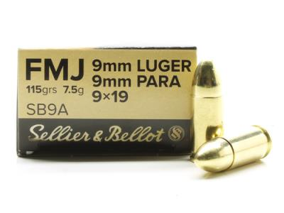 9MM 115GR FMJ BRASS CASE 1000