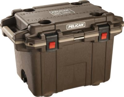 Elite Cooler 30 Qt Brown/Tan