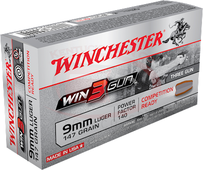 9MM WIN3GUN 147GR FMJ-RN 50PK