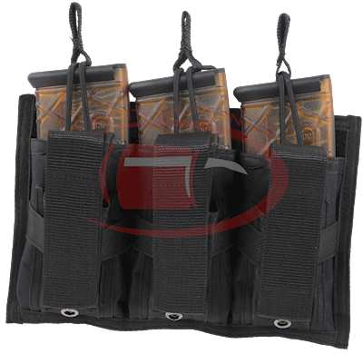Tri-Double Molle mag pouch-blk
