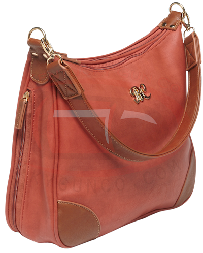 Hobo Style Purse-Brickred w/ta Hover